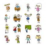 Set of doodle children — Stock Vector #49519371