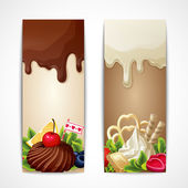 Chocolate banners vertical — 图库矢量图片