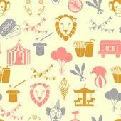 Circus seamless pattern — Stockvektor
