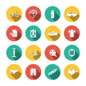 Set of Biking Icons — Stock Vector