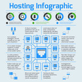 Hosting infographic set — Stock Vector