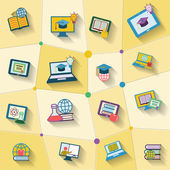 Icono de la educación en línea — Vector de stock