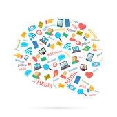 Social Talk Bubble — Stok Vektör