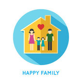 Family icon home — Stock Vector