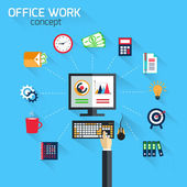 Office work concept — Stock Vector