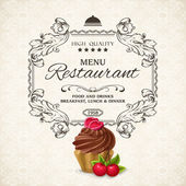 Restaurant menu template — Vector de stock