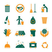 Garbage icons set — Stock Vector