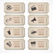 Retro cinema tickets — Stock Vector