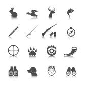Set of Hunting Icons — Stock Vector