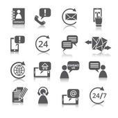 Contact Us Service Icons — Stock Vector