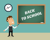 Back to school scene — Stockvector