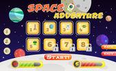Scifi game interface — Vector de stock
