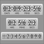Countdown clock timer — Vettoriale Stock