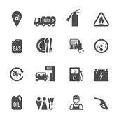 Fuel Pump Icons Set — Stok Vektör
