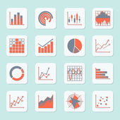 Business chart icons — Stock Vector