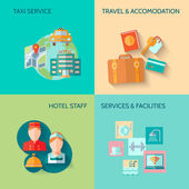 Hotel service composition set — Stock Vector