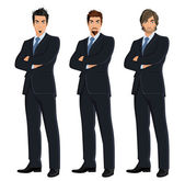 Set of business men — Stock Vector