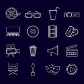 Icônes du cinéma la valeur hiérarchique — Vecteur