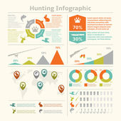 Hunting infographics — Stock Vector