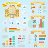 Hotel infographics — Stockvektor
