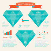 Jewelry icon infographic — Stock Vector