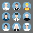 Professions avatar flat icons set — Stock Vector #50260615