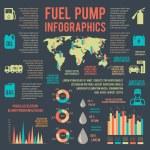Auto gasoline service infographics — Stock Vector #50260641