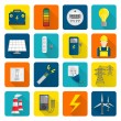 Electricity Energy Icons Set — Stock Vector #50266397