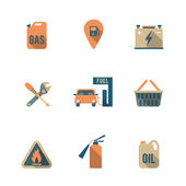 Fuel Pump Icons Set — Stock Vector