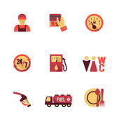 Fuel Pump Icons Set — Stockvektor