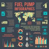 Auto gasoline service infographics — Stock Vector