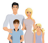 Happy family realistic — Stock Vector