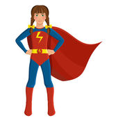 Girl in superhero costume — Stock Vector