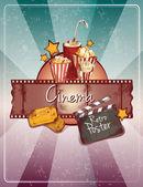 Sketch cinema poster — Stock Vector