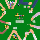People playing in poker — Stock Vector