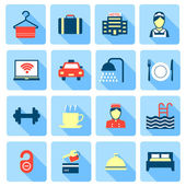 Set of hotel icons — Stock Vector