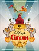 Circus retro poster — Stock Vector