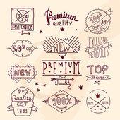 Premium retro quality emblem — Stock Vector