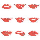 Set of Lips — Wektor stockowy