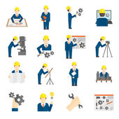 Set of Engineer Icons — Stock Vector