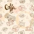 Vintage retro coffee seamless — Stock Vector