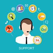 Servicio de soporte al cliente — Vector de stock