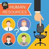 Human Resources Concept — Stock Vector