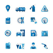 Set of Fuel Station Icon — Vettoriale Stock