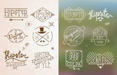 Hipster vintage emblem — Stock Vector