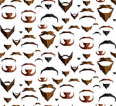 Mustache seamless — Stock Vector