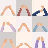 Set of hands — Stock Vector