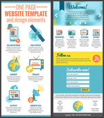 One page web site template — Stok Vektör