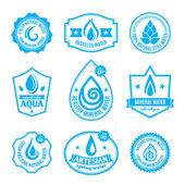 Water label — Vector de stock