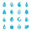 Blue Water Drops Icons — Stock Vector #50649763